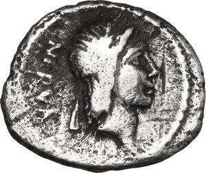 obverse: A. Licinius Nerva. AR sestertius, 47 BC