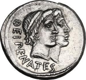 obverse: C. Antius C.f. Restio. AR Denarius, 47 BC