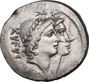 obverse: Mn. Cordius Rufus. AR Denarius, 46 BC