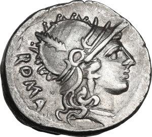 obverse: T. Carisius. AR Denarius, 46 BC