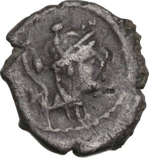obverse: T. Carisius. AR Sestertius, 46 BC