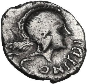 obverse: C. Considius Paetus. AR Sestertius. 46 BC