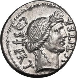 obverse: Julius Caesar. AR Denarius, 46 BC. Sicily (?)
