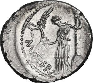 reverse: Julius Caesar. AR Denarius, 44 BC, P. Sepullius Macer moneyer