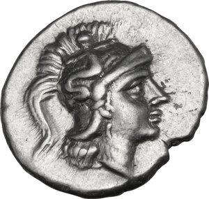 obverse: Southern Apulia, Tarentum. AR Drachm, c. 272-240 BC. Aristis magistrate