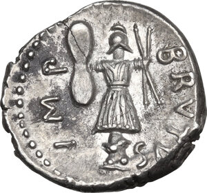 reverse: Brutus. AR Denarius, late summer-autumn 42 BC. Military mint traveling with Brutus and Cassius in Western Asia Minor or Northern Greece. Pedanius Costa, legate