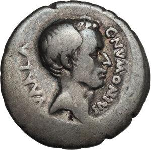 obverse: C. Numonius Vaala. AR Denarius, 41 BC