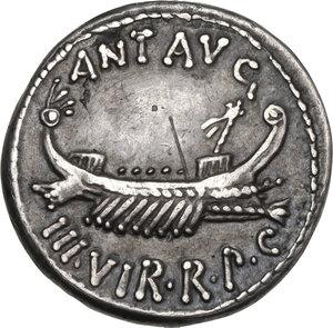 obverse: Mark Antony. AR Denarius, 32-31 BC