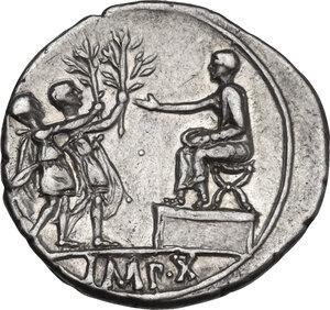 reverse: Augustus (27 BC-14 AD) . AR Denarius, Lugdunum mint. Struck 15-13 BC