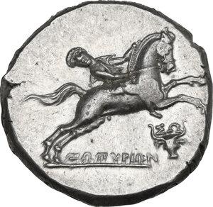obverse: Southern Apulia, Tarentum. AR Nomos, c. 240-228 BC. Zopyrion magistrate