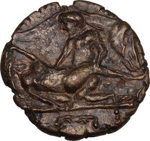 obverse: Time of Tiberius. AE Spintria, c. 22-37 AD