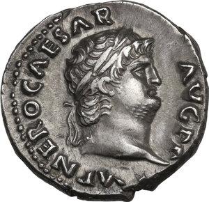 obverse: Nero (54-68). AR Denarius, 67-68