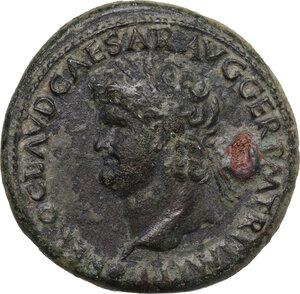 obverse: Nero (54-68). AE Sestertius. Lugdunum mint, c. 65 AD