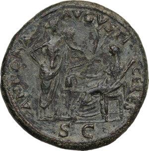 reverse: Nero (54-68). AE Sestertius. Lugdunum mint, c. 65 AD
