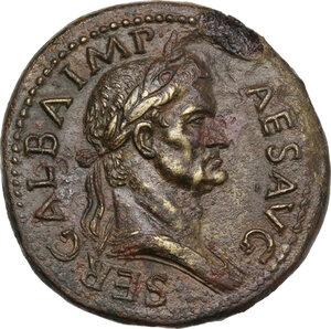 obverse: Galba (68-69). AE Sestertius. Rome mint. Struck circa June-August AD 68