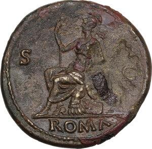 reverse: Galba (68-69). AE Sestertius. Rome mint. Struck circa June-August AD 68