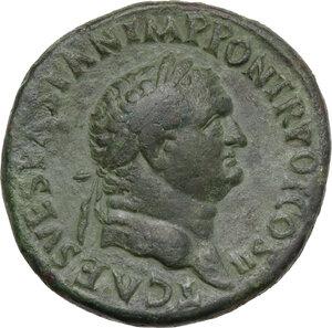 obverse: Titus as Caesar (69-79). AE Sestertius. Struck under Vespasian, 72 AD