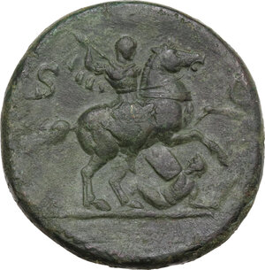 reverse: Titus as Caesar (69-79). AE Sestertius. Struck under Vespasian, 72 AD