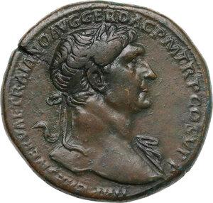 obverse: Trajan (98-117). AE Sestertius, 108-109/110