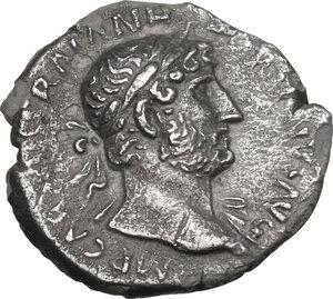 obverse: Hadrian (117-138). AR Quinarius, 119-122 AD