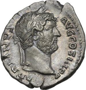 obverse: Hadrian (117-138). AR Denarius, 134-138 AD