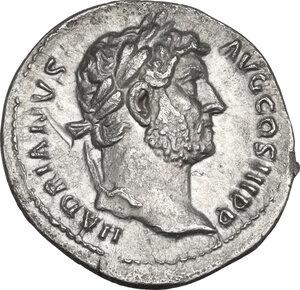 obverse: Hadrian (117-138). AR Denarius, 134-138