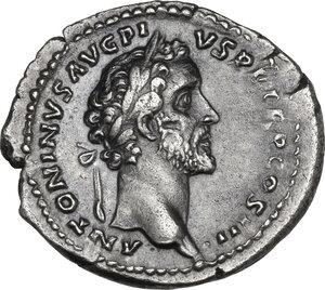 obverse: Antoninus Pius (138-161) and Marcus Aurelius Caesar. AR Denarius, 140 AD