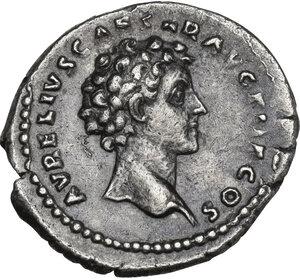 reverse: Antoninus Pius (138-161) and Marcus Aurelius Caesar. AR Denarius, 140 AD