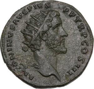 obverse: Antoninus Pius (138-161). AE Dupondius, Rome mint, 140-144 AD