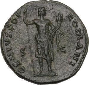 reverse: Antoninus Pius (138-161). AE Dupondius, Rome mint, 140-144 AD