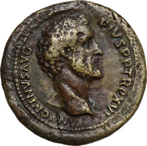 obverse: Antoninus Pius (138-161). AE Medallion, possibly