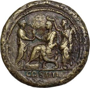 reverse: Antoninus Pius (138-161). AE Medallion, possibly