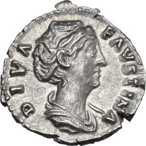 obverse: Diva Faustina I (after 141 AD). AR Denarius, struck under Antoninus Pius, c. 146-161 AD