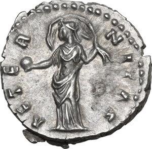 reverse: Diva Faustina I (after 141 AD). AR Denarius, struck under Antoninus Pius, c. 146-161 AD