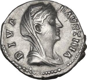 obverse: Diva Faustina I (after 141 AD). AR Denarius