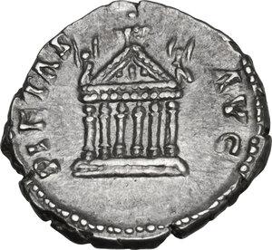 reverse: Diva Faustina I (after 141 AD). AR Denarius