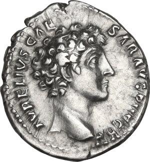 obverse: Marcus Aurelius (161-180). AR Denarius, 140-144