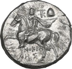 obverse: Southern Apulia, Tarentum. AR Nomos, c. 240-228 BC. Xenokrates magistrate