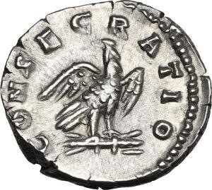 reverse: Marcus Aurelius (Divus, died 180 AD). AR Denarius, Consecration issue struck under Commodus