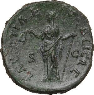 reverse: Faustina II, wife of Marcus Aurelius (died 176 AD). AE Sestertius. Struck under Antoninus Pius, 145-146