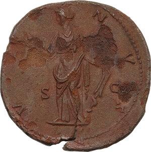 reverse: Faustina II, wife of Marcus Aurelius (died 176 AD). AE Sestertius, struck under Antoninus Pius, 145-146 AD