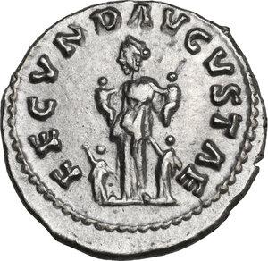 reverse: Faustina II, wife of Marcus Aurelius (died 176 AD). AR Denarius. Struck under Marcus Aurelius and Lucius Verus, circa 161 AD