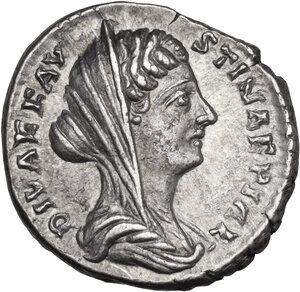 obverse: Diva Faustina II (after 176 AD). AR Denarius. Struck under Marcus Aurelius, after 176 AD