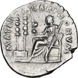 reverse: Diva Faustina II (after 176 AD). AR Denarius. Struck under Marcus Aurelius, after 176 AD