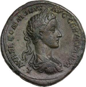 obverse: Commodus (177-192). AE Sestertius, 177 AD