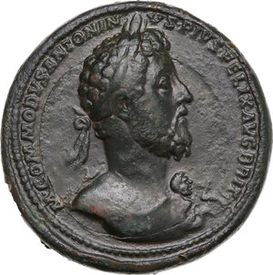 obverse: Commodus (177-192). AE Medallion. Rome mint, 186-187