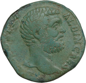 obverse: Clodius Albinus as Caesar (193-195). AE Sestertius. Struck under Septimius Severus, 194-5 AD