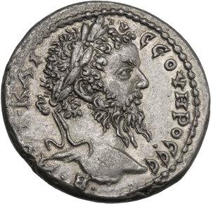 obverse: Septimius Severus (193-211). AR Tetradrachm, Antioch mint, Seleucis and Pieria. Struck c. 205-211 AD