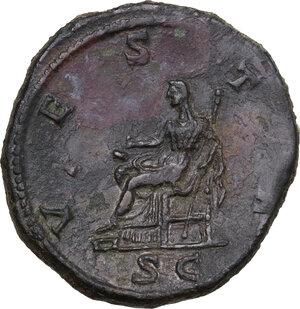 reverse: Julia Domna, wife of Septimius Severus (died 217 AD). AE Sestertius