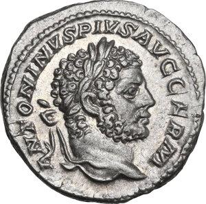obverse: Caracalla (198-217). AR Denarius, 214 AD
